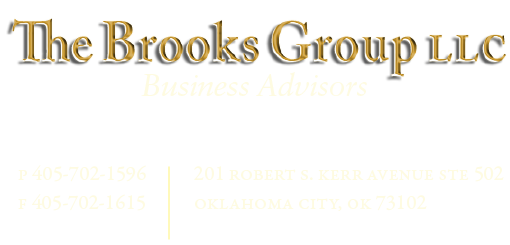 The Brooks Group - Business Advisors - p 405-702-1596 f 405-702-1615 e-mail bank of oklahoma plaza 201 robert s. kerr avenue ste 502 oklahoma city, ok 73102